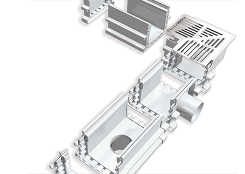 Connecting the modular UDP Range drain.